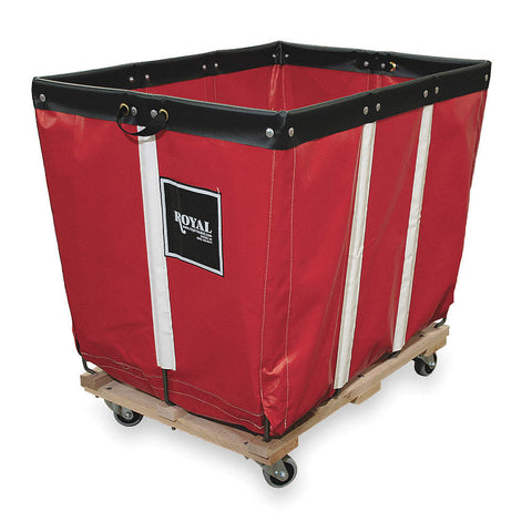 Basket Truck for Storage and Rapid Deployment of Emergency Equipment, Permanent Liner, Red