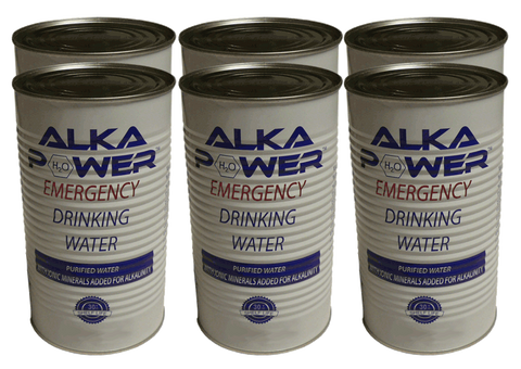 Alka Power Canned Emergency Drinking Water 42 oz, 30 + Year Shelf Life, 1 Full Pallet - 112 cases (6/case) - 672 Cans