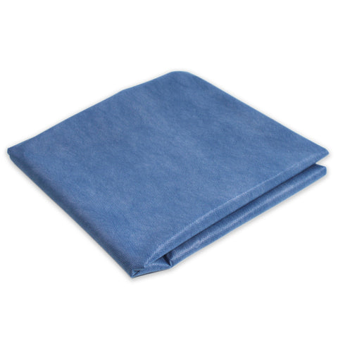 "Premium Flat Cot Sheet, Disposable, ""40 x 85"", Dark Blue, 500/cs"