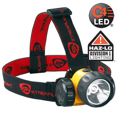 Streamlight HAZ-LO Class 1, Division 1 Headlamp C4 LED 120 Lumens, Includes 3 AA Alkaline Batteries