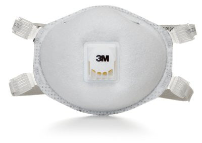 3M N95 Particulate Respirator 8214, with Faceseal and Nuisance Level Organic Vapor Relief, Case/80