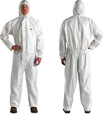 3M Disposable Protective Coverall Safety Work Wear with Hood, Case/25