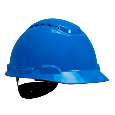3M Hard Hat, Vented, 4-Point Ratchet Suspension, Case/20