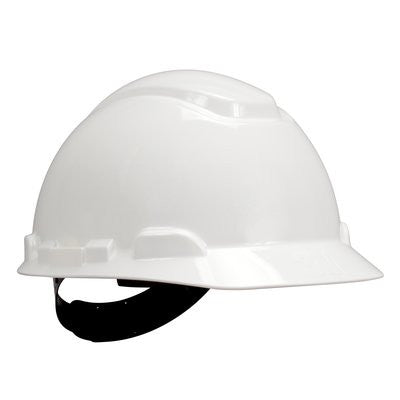 3M Hard Hat, White, 4-Point Pinlock Suspension, Case/20