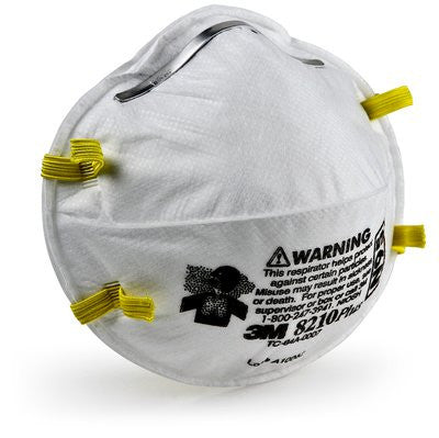 3M N95 Particulate Respirator 8210Plus, Case/160