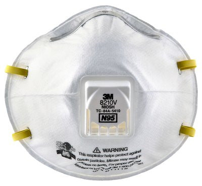 3M N95 Particulate Respirator with Valve 8210V, Case/80