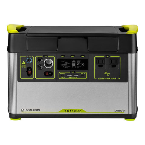 Goal Zero Yeti 1500X Solar Portable Power Station