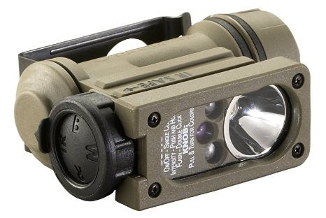 Streamlight Sidewinder Compact II Military Model Multi-LED Flashlight with Helmet Mount & Headstrap
