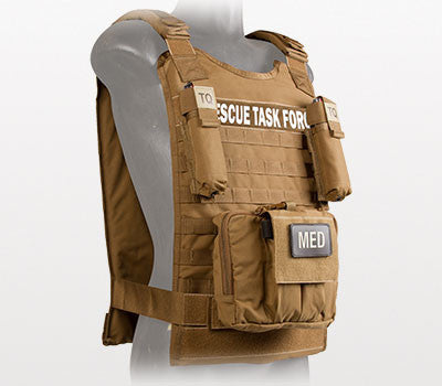 Rescue Task Force Tactical Vest Kit with Level lll Soft Body Armor, Coyote