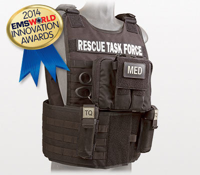 Rescue Task Force Tactical Vest Kit with Level III Soft Body Armor, Side Armor, Black
