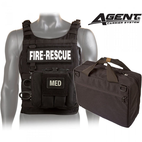 Rescue Task Force Tactical Vest Kit with Level IIIA Soft Body Armor, Black