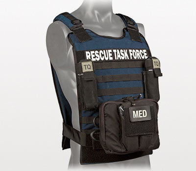 Rescue Task Force Tactical Vest Kit with Level lll Soft Body Armor, Blue