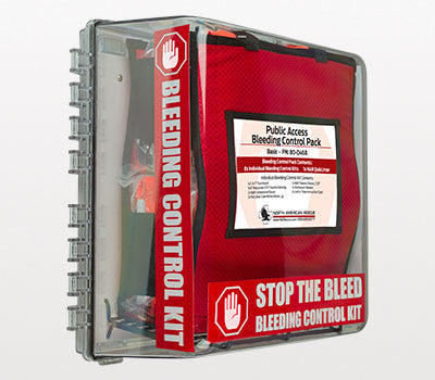 Public Access Bleeding Control Station, 8-Pack, Vacuum Sealed
