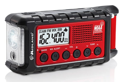 Midland® E+READY Emergency Crank Weather Alert Radio