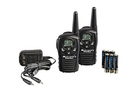 Midland® Up to 18 Mile, GMRS Two-Way Radios With Batteries and Charger