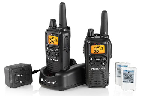 Midland® Up to 26 Mile, Two-Way, Weather/GMRS Radios With Batteries and Charger