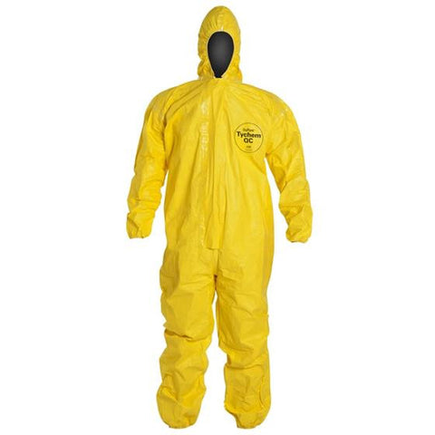 Tychem QC Coveralls w/ Attached Hood, Case/50