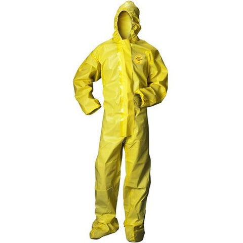 Tychem QC Coveralls w/ Attached Hood and Boots, Case/50