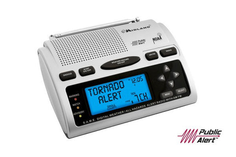 Midland® Desktop AM/FM Weather Alert Radio