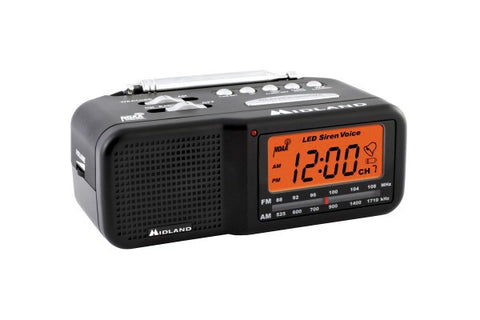 Midland Desktop AM/FM Alarm Clock With Weather Alert Radio
