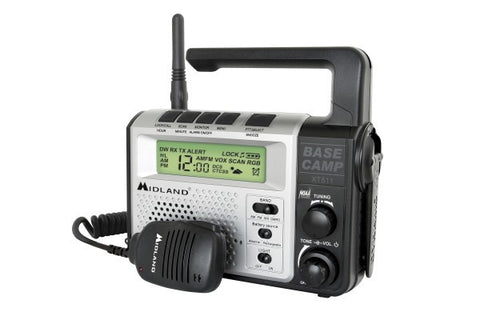 Midland® Emergency Crank Base Camp AM/FM Weather Alert Radio