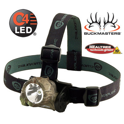 Streamlight Buckmasters Trident Headlamp C4 White LED & Green LED 80 Lumens, Includes 3 AAA Alkaline Batteries