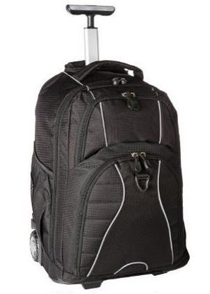 "BulletBlocker NIJ IIIA Bulletproof Rolling Backpack, Holds up to a 15"" Laptop, Weighs 5.3 lbs."