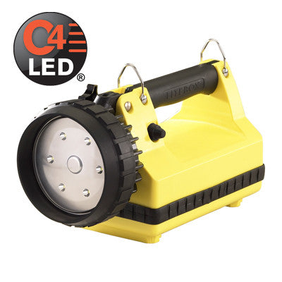 Streamlight E-Flood LiteBox, C4 LED, 615 Lumens, Includes 120V AC/12V DC Chargers, Yellow