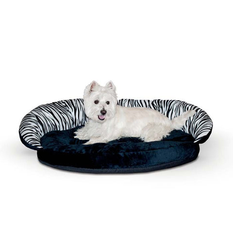 K&H Deluxe Plush Bolster Sleeper, Zebra, Small