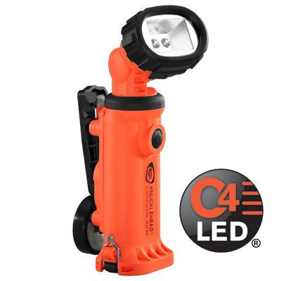 Streamlight Knucklehead With Clip - Rechargeable, C4 LED Flood Work/Utility Light, 200 Lumens, Charger/Holder & 120V AC & DC Cords
