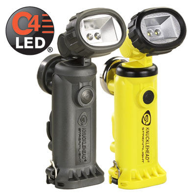 Streamlight Knucklehead Rechargeable C4 LED Flood Work/Utility Light, 200 Lumens, Charger/Holder & 120V AC & DC Cords