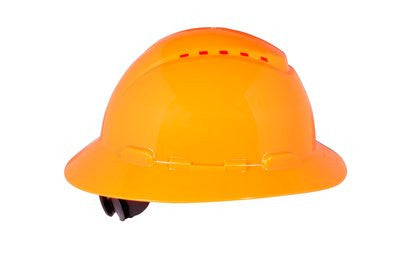 3M Full Brim Vented Hard Hat, 4-Point Ratchet Suspension, Case/20