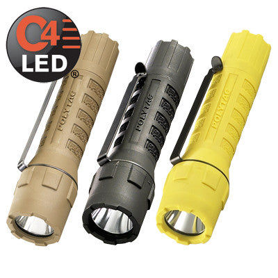 Streamlight PolyTac Tactical C4 LED Flashlight, 275 Lumens, Includes 2 CR123A Lithium Batteries