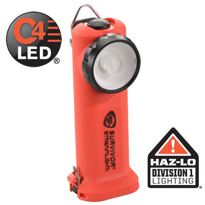 Streamlight Survivor HAZ-LO Class 1, Division 1, C4 LED 175 Lumens, Rechargeable Batteries, Charger/Holder & 120V AC/12V DC Cords