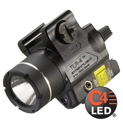 Streamlight TLR-4, 125 Lumen, Compact Tactical Gun Mount with Red Laser