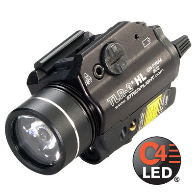 Streamlight TLR-2 HL, 630 High Lumen, Tactical Gun Mount with Red Laser