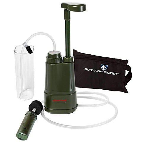 Survivor Filter PRO Portable Water Filter Pump with an Extra Set of Filters