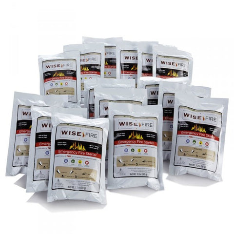 Emergency Survival Fire Starter, 15 Individual Starter Pouches
