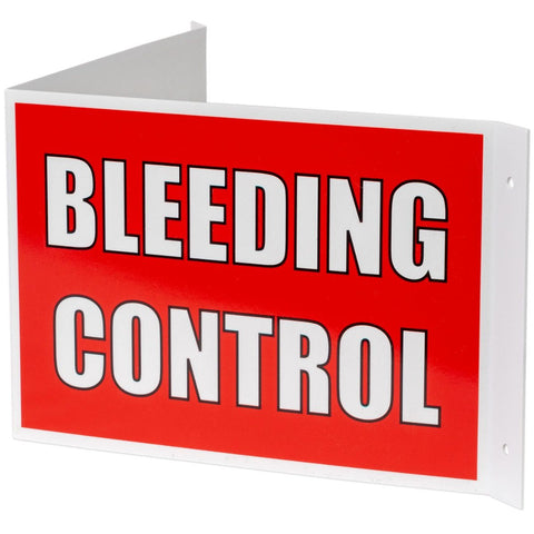 3-Way Bleeding Control Sign