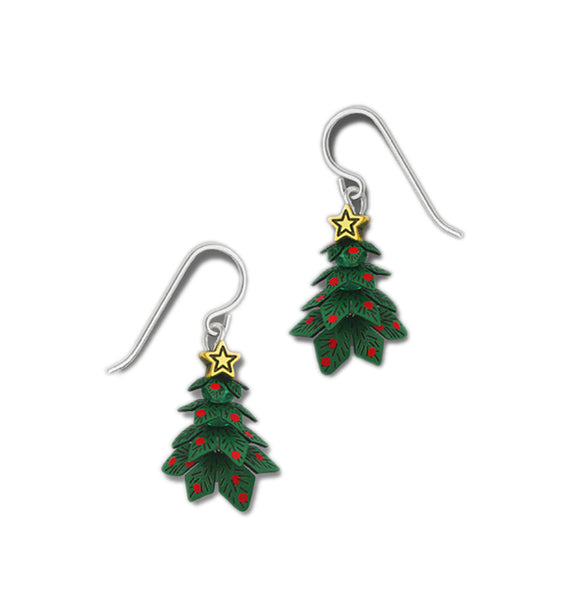 3-D Green Christmas Tree Gold-tone Ornament & Star by Sienna Sky