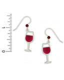 Sienna Sky Red Wine Glass Drop Earrings 1115 2