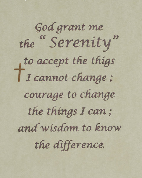 Folded Prayer Hands Serenity Prayer God Grant me the