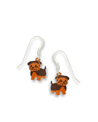 Yorkshire Terrier Earrings, Handmade in USA by Sienna Sky si1137