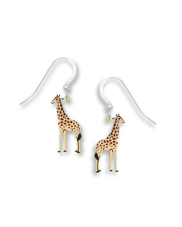 Painted Giraffe Earrings Handmade in USA by Sienna Sky 1721