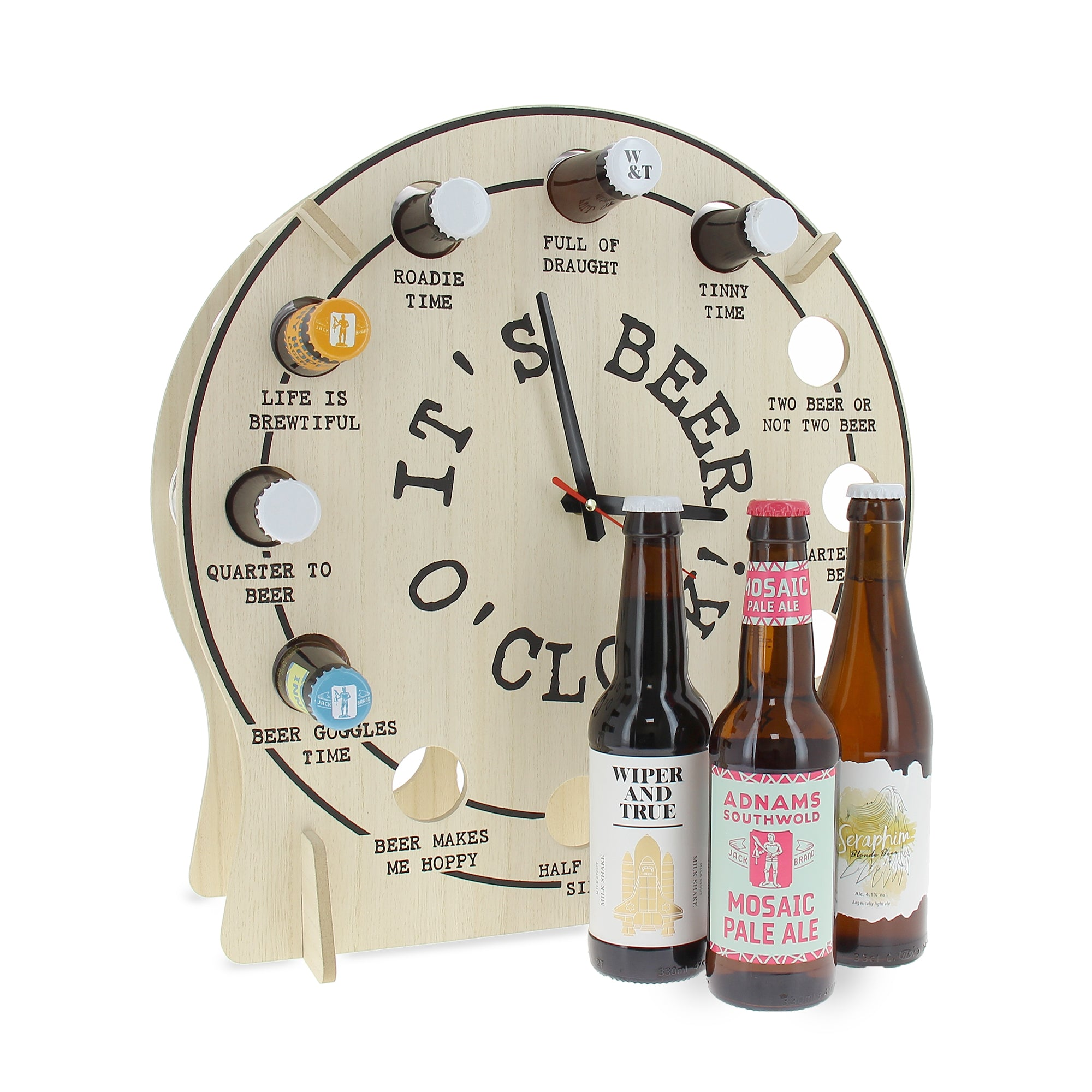 A great novelty clock paired with 12 great beers to bring this product to life.