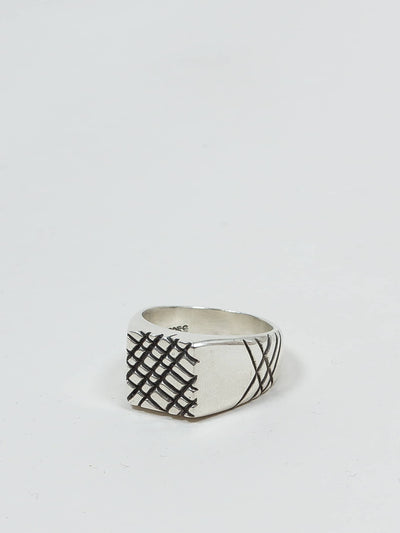 jr. smith jewellery, signet ring, waffle
