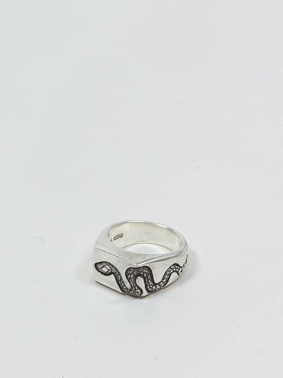 jr. smith jewellery, signet ring, snake