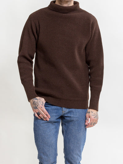 Andersen-Andersen, Navy Turtleneck, Natural Brown