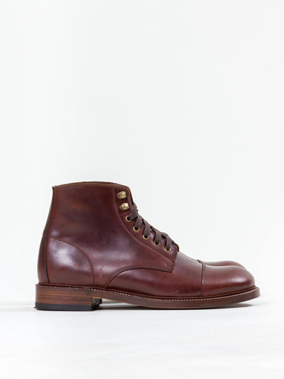 Uncle Bright, Lace Boot, Chestnut Brown