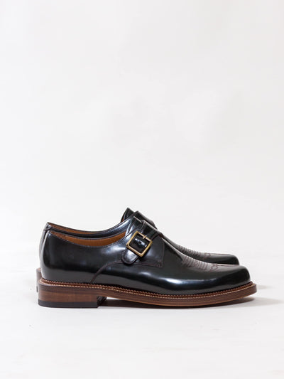 Uncle Bright, Western Monk, Bottle Green High Shine, derby shoes